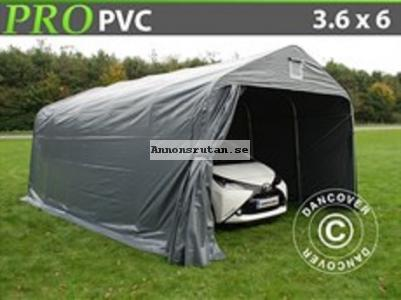 Garagetält PRO 3,6 x 6,0 x 2,68 PVC Grå 6038:-