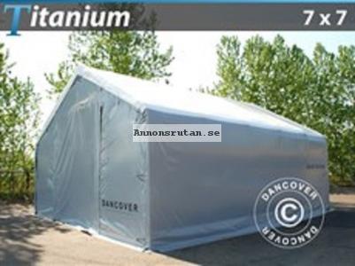 Lagerhall  Titanium 7,00 x 7,00 x 2,5 x 4,2  Vit/Grå