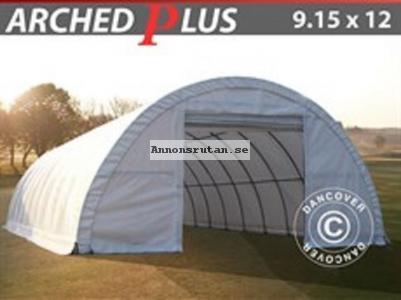 Rundbågehall PLUS 9,15 x 12 x 4,50 PVC Vit (600 g/m²)