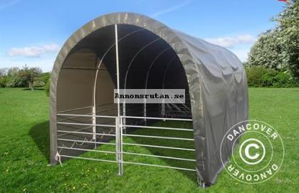 Vindskydd för djur 3 x 6 x 2,8 m PVC Grön